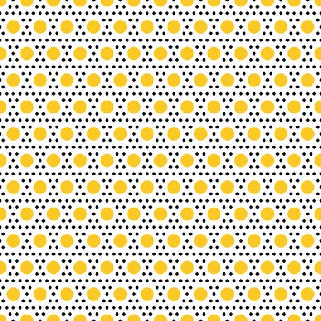 polkadot: Gold and black dots. Vector seamless pattern. Modern stylish texture. Polka dots seamless pattern