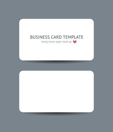 Two business cards with round corners template mockup isolated two business cards with round corners template mockup isolated on dark gray background realistic vector reheart Gallery