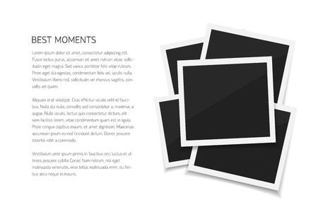 Collect Moments With Instant Photos. Vector Isolated Photo Frames ...