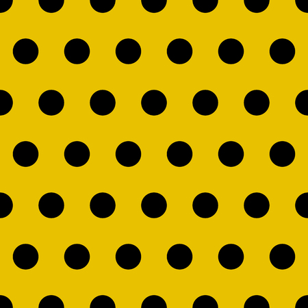 Vector abstract retro seamless pattern with circle. polka dots background Stock Photo