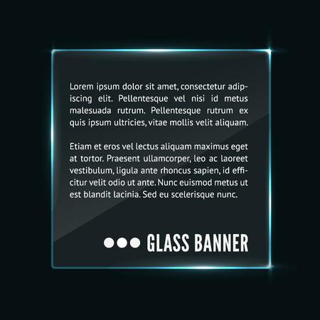 Glass banner vector Ilustrace