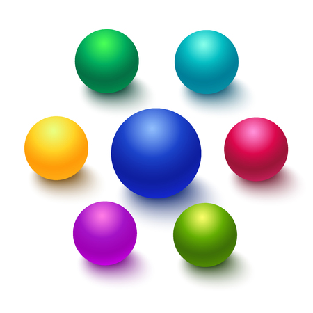 Colorful sphere or ball isolated Illustration