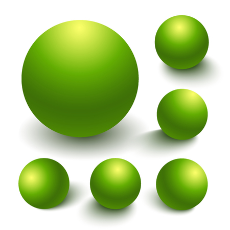 glass reflection: Realistic vector spheres Illustration