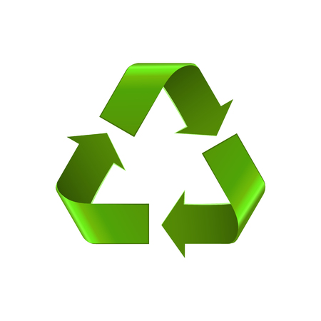 Recycle icon symbol isolated on white.