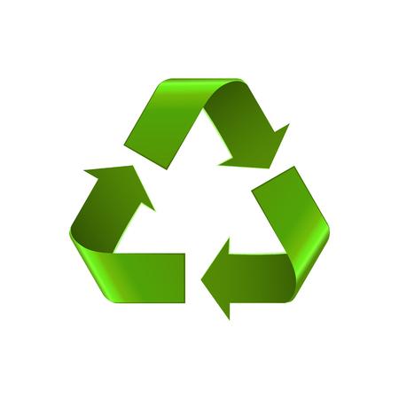 Symbole d'icône de recyclage isolé sur blanc. Banque d'images - 84627130
