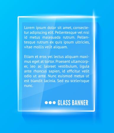 Glass banner vector illustration