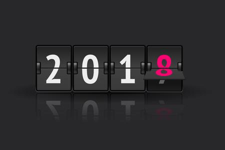 Countdown-Vektorfahne des neuen Jahres
