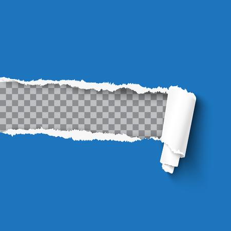 Zerrissenes Papier realistische Vektor-Illustration