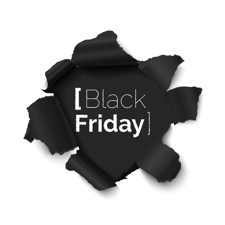 Black friday vector banner Ilustracja