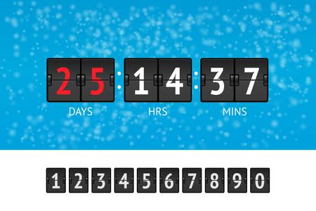 New Year countdown vector banner Illustration