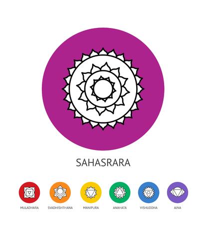vishuddha: Chakras set Illustration