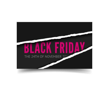Black friday vector banner Stock Photo