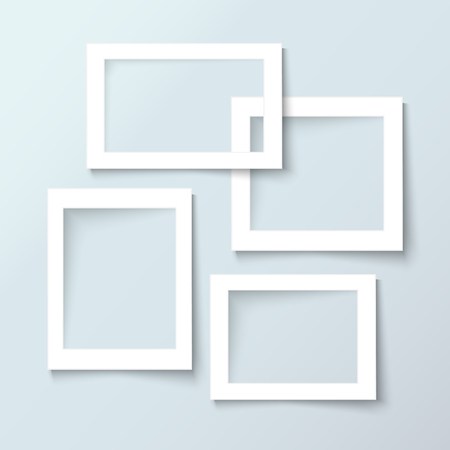 Picture frames. Photoframes mockup template for web site, advertising, banner, flyer, brochure, paper print, scrapbook and interior design