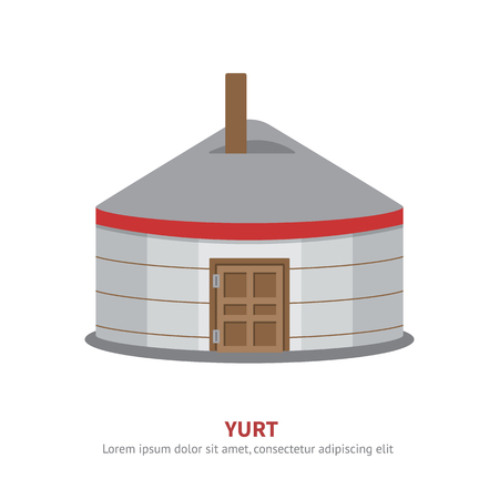 Mongolian Yurt icon vector Illustration. Stok Fotoğraf