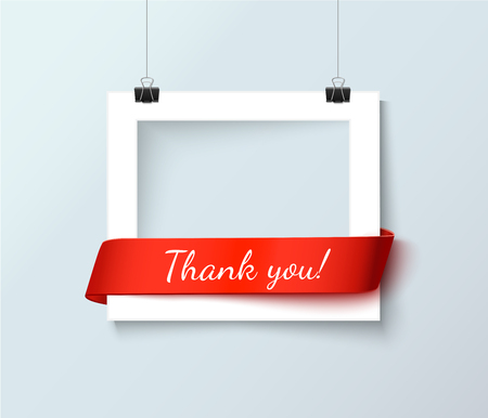Vector bank photo frames with empty space for your image
