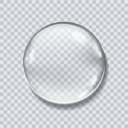 Water drop realistic vector illustration