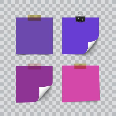 ノートメモ用紙の紫外線カラーシートのセット