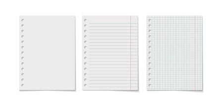 Paper sheet vector realistic illustration