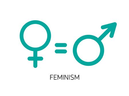 Equality between men and women concept vector