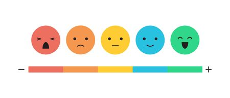 Feedback concept emoticon flat design icon set
