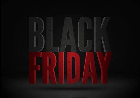 Black friday sale social media post template Ilustracja