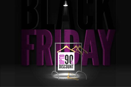 Black Friday fashion clothing sale banner template