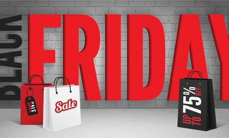 Final discount offer vector banner template for black friday