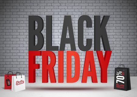 Black friday sale 70 percent offer banner template