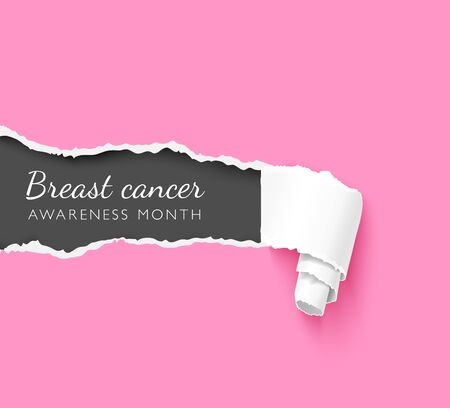 Breast cancer awareness month creative poster vector template