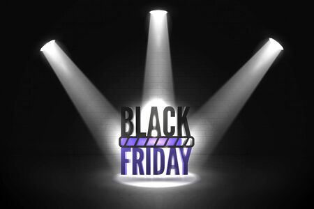 Black friday loading realistic vector banner template Illustration