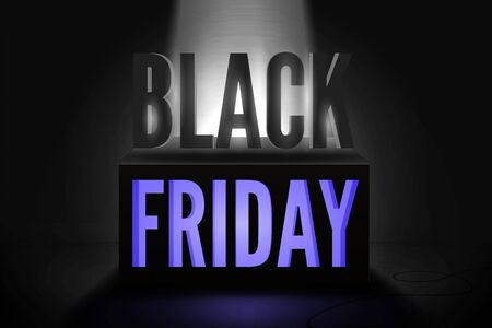 Black friday total sale vector banner template