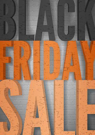 Black friday sale minimal vector poster template Ilustracja