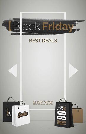Black friday best deals web banner template