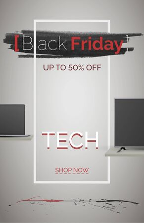 Black friday tech sale banner template