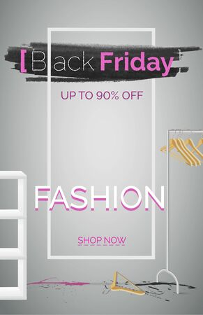 Black friday fashion sale banner vector template