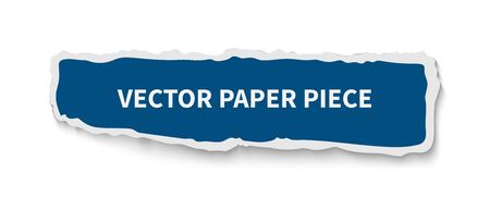 Paper piece gap realistic vector banner template