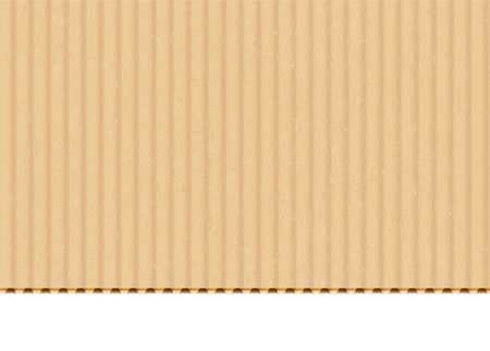 Cardboard corrugated sheet realistic vector background