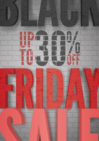 Black Friday clearance sale realistic vector poster template.