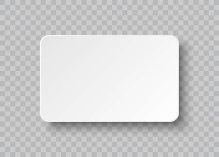 Blank corporate identity business card isolated on transparent background. Realistic vector paper card with soft background Ilustração