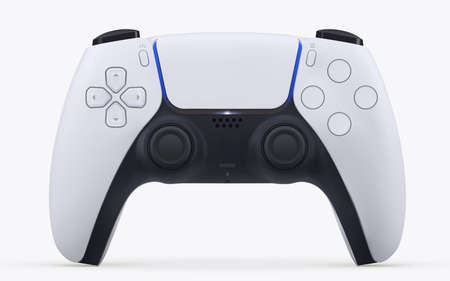 Play game station vector gamepad controller on white