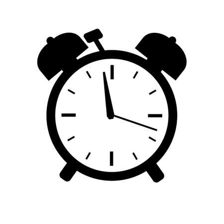 Alarm clock vector icon pictogram isolated on white background