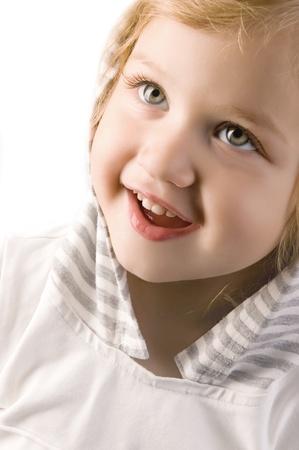 adorable smiling little girl closeup Stock Photo