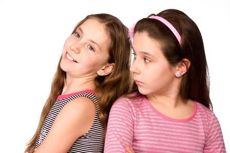 10 と 11 は白で隔離される夢の時代に 2 人の女の子