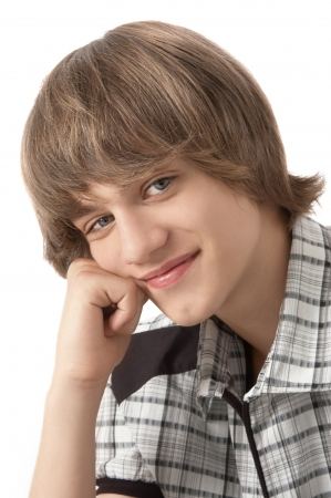 Portrait of Teenage Boy Looking at the camera