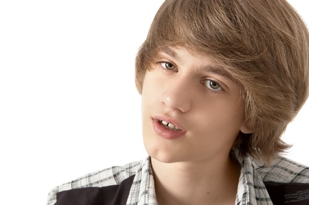 Portrait of Teenage Boy Looking Relaxed close-up Stock Photo - 17158670