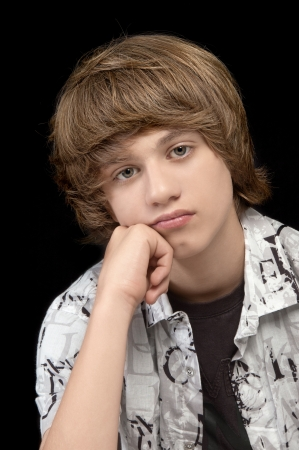 Portrait of Teenage Boy Looking Relaxed photo