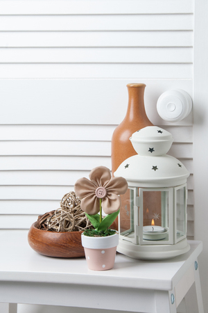 Bedroom decor with candlestick