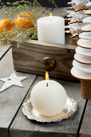 Wooden Christmas Trees Aroma Candles In Wooden Box On Old Wooden Classy Decorating With Old Wooden Boxes