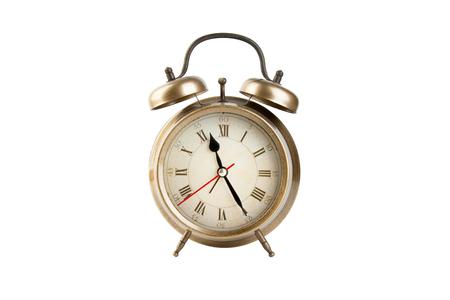 Alarm clock isolated on white background Фото со стока