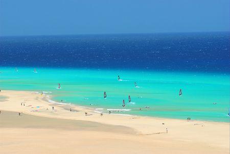 exhilaration: Windsurfer in Fuerteventura